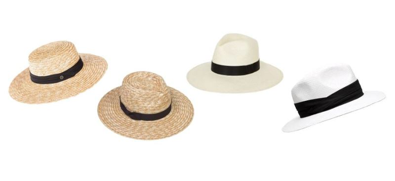 Boater and Panama hats