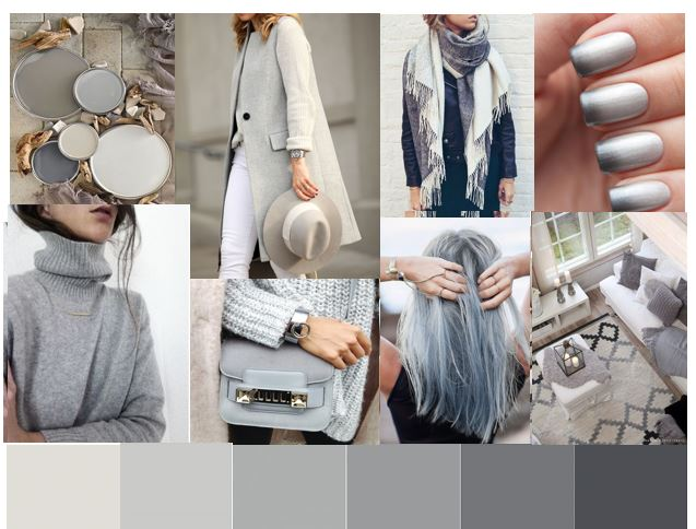 Grey tone Mood Board